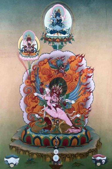 Tsok bum de les Tres Arrels,  Puja de Lama Norlha i  Ofrena de fum de la muntanya Riwo Sangcho